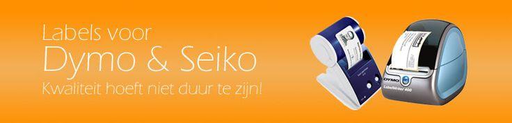 Dymo & Seiko labels.  Kwaliteit hoeft niet duur te zijn!