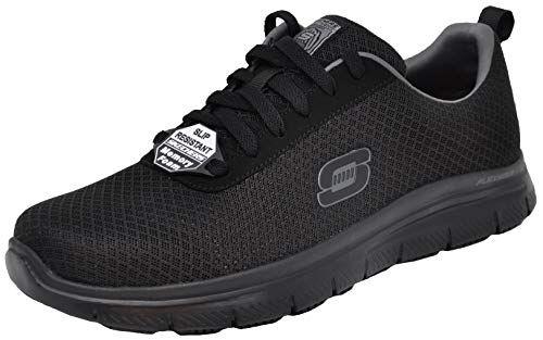 75ec33182c8c Skechers Men's Flex Advantage Bendon Work Shoe, Black/Charcoal, 10.5 ...