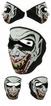 Glow in the Dark Vampire Neoprene Face Mask Side