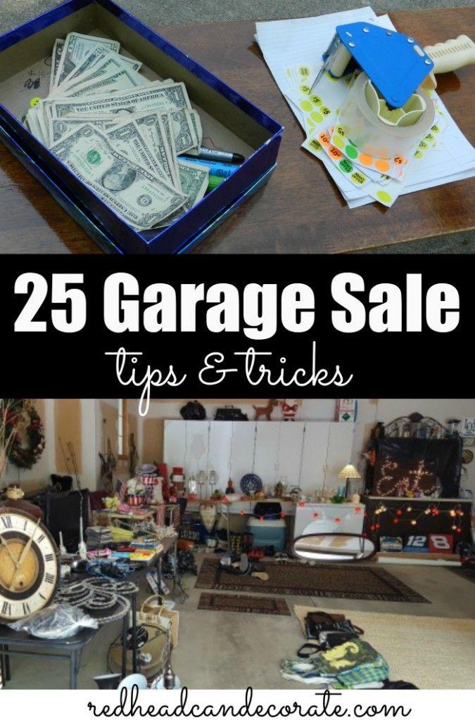 25 Garage Sale Tips