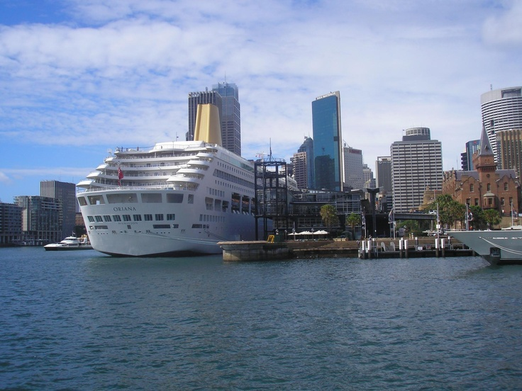 You couldn't get any closer - berthing right in the heart of Sydney Harbour