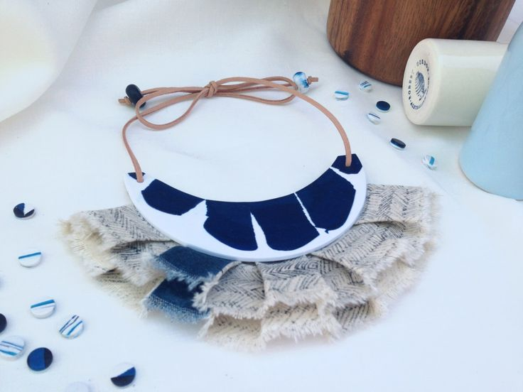 A personal favourite from my Etsy shop https://www.etsy.com/au/listing/399112535/japanese-linen-i-statement-necklace
