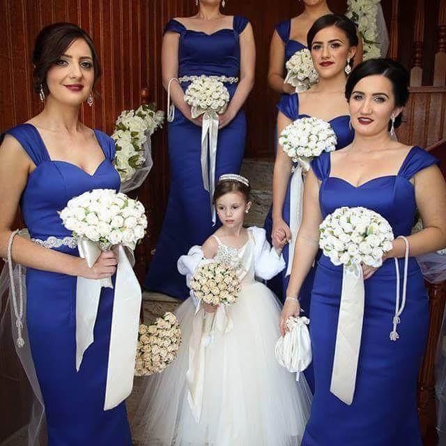 Blue And Orange Bridesmaid Dresses