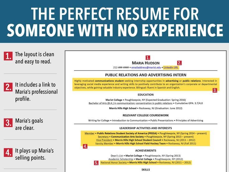 7 reasons this is an excellent resume for someone with no experience perfect resumeresume tipssample - How To Write A Resume Without Work Experience 2