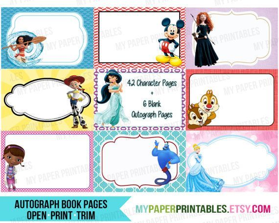 It is a photo of Printable Disney Autograph Book with imagineer printable