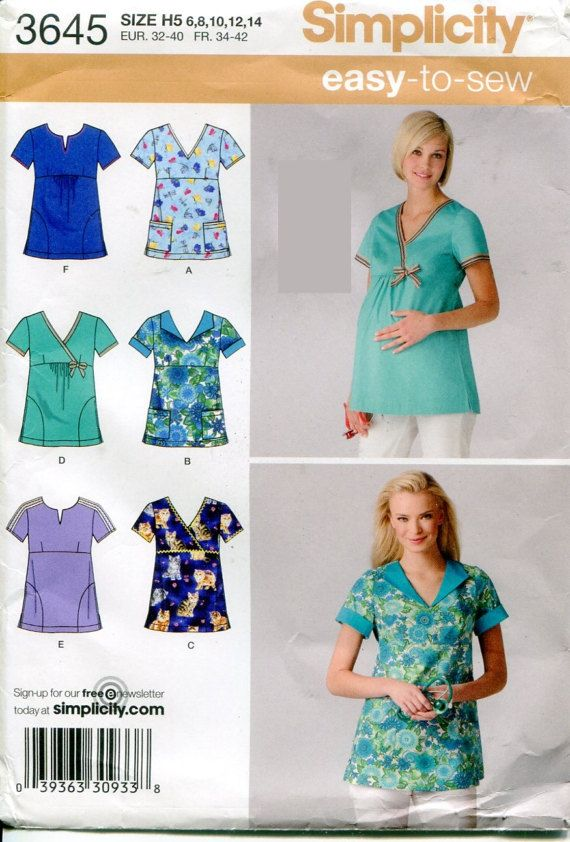 Simplicity 3645 Misses Maternity Amp Regular Scrubs By