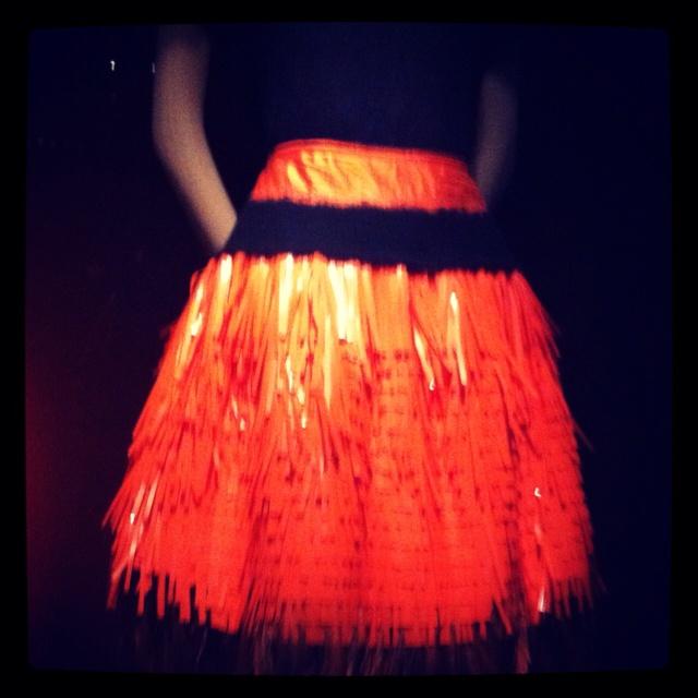 Prada pop of orange. #metmuseum #schiaparelliandprada