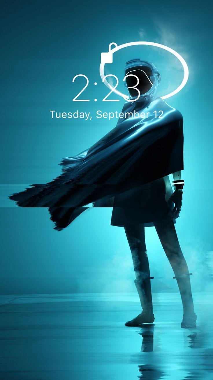 Wallpaper neon biru untuk iPhone XS Anda dari Vibe # ...
