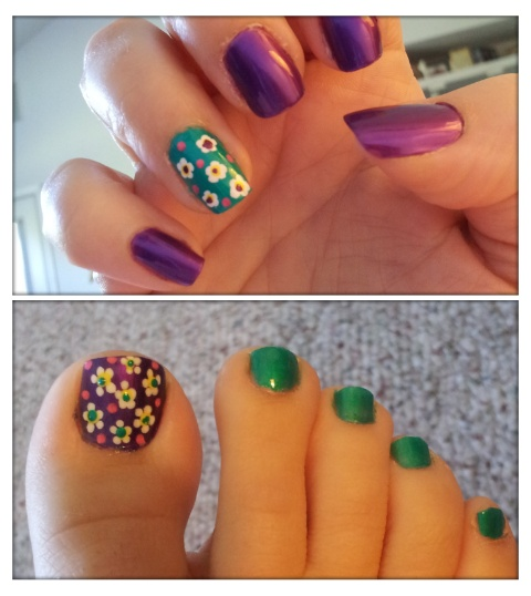 38 best Matching nails and toes images on Pinterest | Mani ...