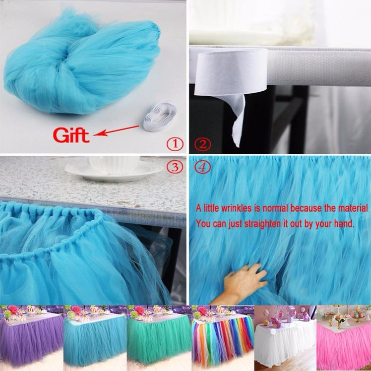 Baby Shower Table Decorations 100*80CM Tulle Table Skirt Wedding Table Skirt Birthday Party Table Cloth High Quality 6Colors-in Table Skirts from Home & Garden on Aliexpress.com | Alibaba Group