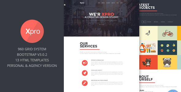 Xpro - Onepage Multipurpose Bootstrap HTML #Onepage, #Xpro