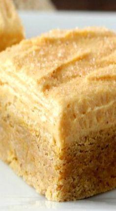 Pumpkin Snickerdoodle Cookie Bars with Pumpkin Buttercream Frosting | pumpkin dessert cake bars, Fall baking
