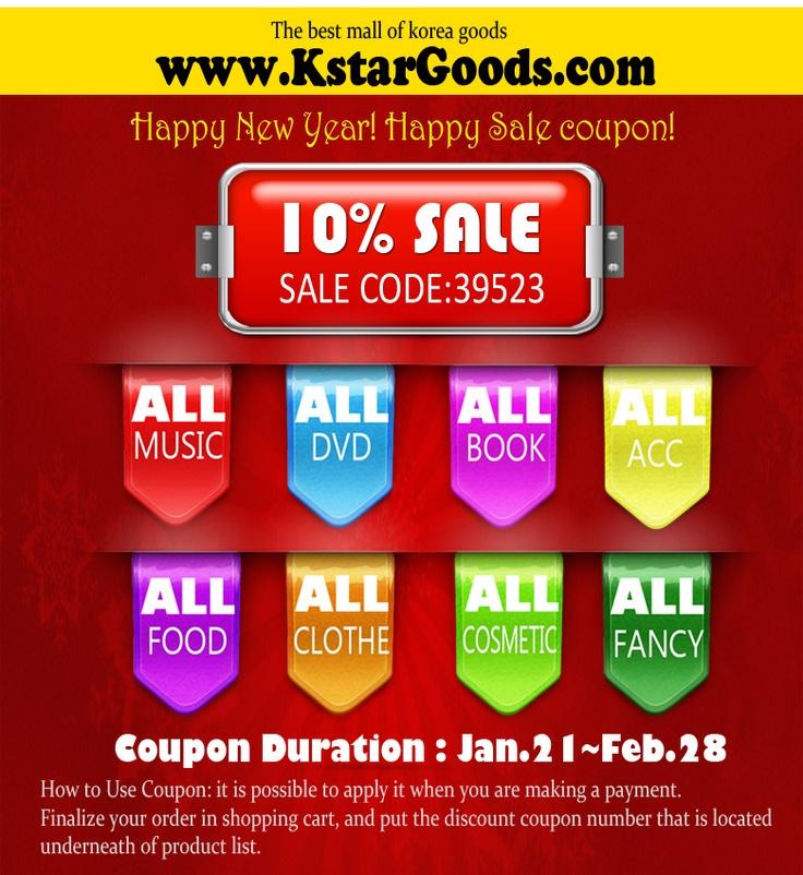 10% Sale on KPOP SHOP for All items.  www.kstargoods.com