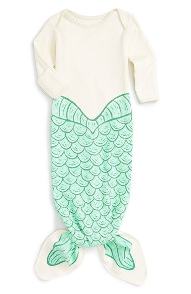Electrik Kidz Mermaid Print Organic Cotton Gown (Baby Girls) (Online Only) available at #Nordstrom