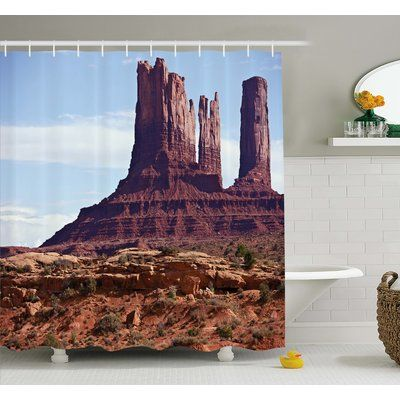 Ambesonne Americana Famous Monument Valley Grand Canyon Rocky Cliffs USA Arizona Print Shower Curtain Set Size: