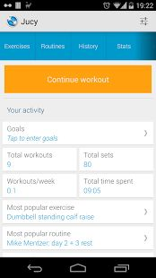 Jucy Workout tracker app helps improve your workouts in the gym, improve your performance, log workouts, track statistics, body measurements, manage exercises and workout routines and its your ultimate workout trainer app.