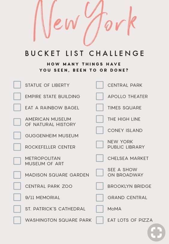 Check your bucket list. Close…