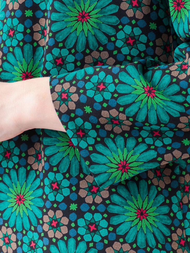 Stained Glass Geometric Flower Dress | Jocomomola de Sybilla | Itokin fashion mail order site