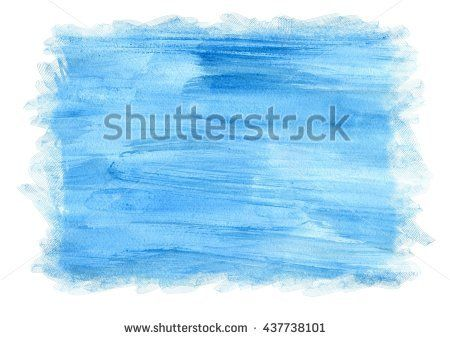 Blue watercolor background for frame or textures. Christmas card. Winter background.
