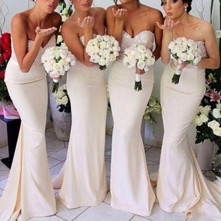 Mermaid Sweet Heart Long Inexpensive Online Bridesmaid Dresses BG51371