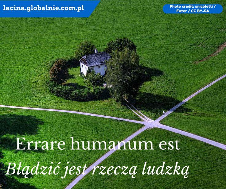 Sentencje łacińskie o życiu: Błądzić jest rzeczą ludzką. Errare humanum est. #łacina #językłaciński #sentencjełacińskie #cytaty #złotemyśli #łacinaonline