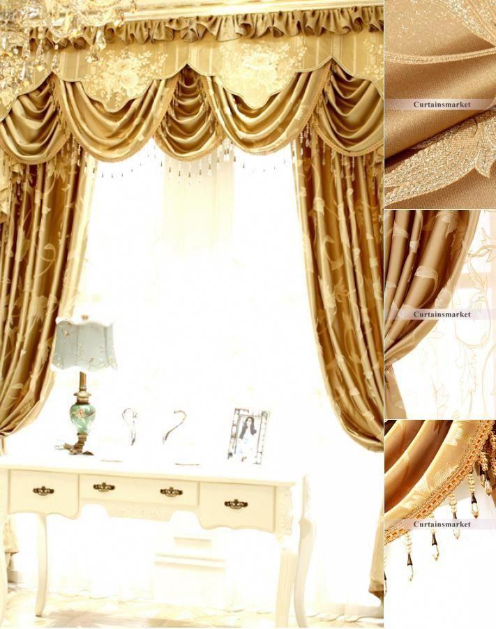 Cotton Room Darkening Living Room Designer Window Curtains No