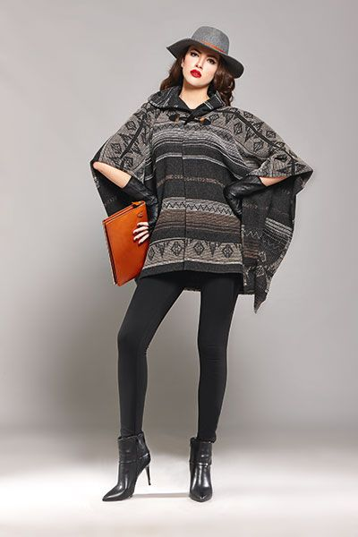 Keep yourself covered with a trendy poncho!
