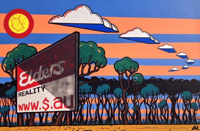 Negative Cleared Assets by Adam Hill http://gallery.aboriginalartdirectory.com/aboriginal-art/adam-hill/negative-cleared-assets.php
