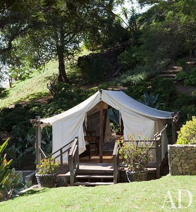 Tent-like structure for the backyard