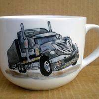 Hand painted0,5 l mug for big boys #truck #mug #HandPainted