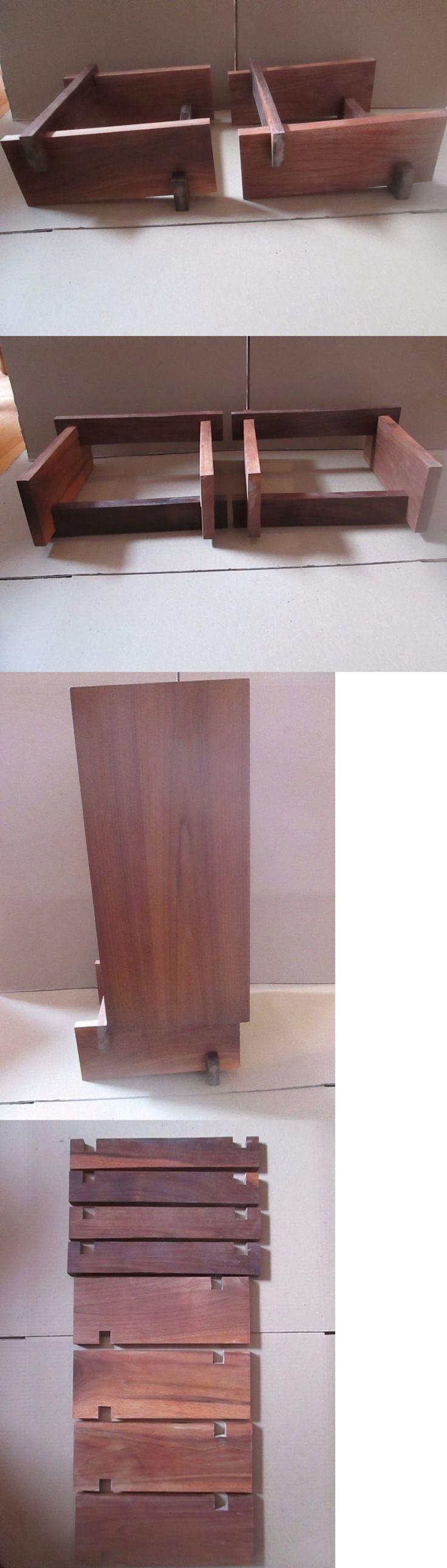Vintage Speakers: Back-Tilted Solid Walnut Stands For Large Speakers -> BUY IT NOW ONLY: $54.99 on eBay!