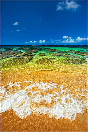 Tunnels Beach - Kauai.  Amazing reefs.  In the morning, the snorkeling is out of this world.