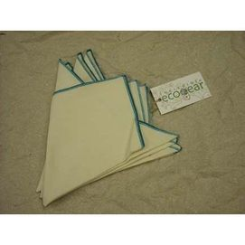"""When you pull out the """"good stuff""""for Shabbat, make sure it's actually, truly good for you.  Napkins and tablecloths that are vinyl, backed with plastic or even cotton or poly, treated with chemicals (you know the ones that claim they are stainproof or wrinkle-resistant?), should absolutely be avoided. Of all the insecticides used globally each year, 25% of them are used for conventional cotton crops. Choose natural linens like organic cotton, but regardless of your choice, please make sure…"""
