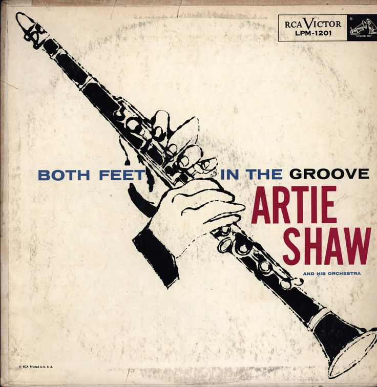 """Artie Shaw - Both Feet In The Groove, Released in 1956 on RCA Victor Records #LPM-1201 Cover done by """"Andy Warhol"""""""