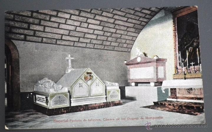 EL ESCORIAL, MADRID. PANTEÓN DE INFANTES, CÁMARA DE LOS DUQUES DE MONTPASIER Nº 9 ED. EMILIO MORA (Postales - España - Comunidad de Madrid Antigua (hasta 1939))