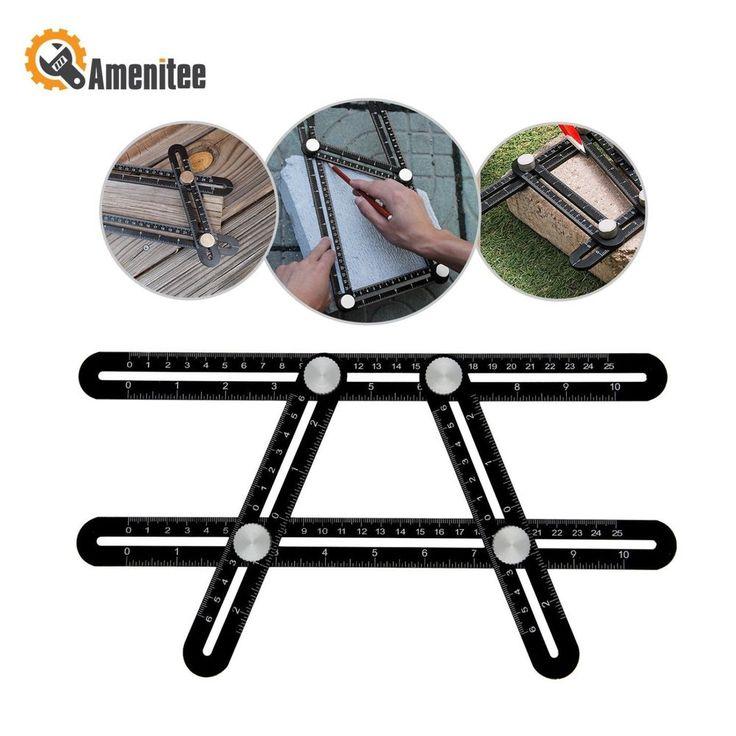 Amenitee Ultra Nook Scale Ruler - Full Metal Multi Angle Measuring Tool-Ultimate #AMENITEE