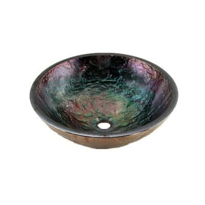 Visit The Home Depot To Buy JSG Oceana Round Glass Vessel Sink In Blue  Reflections