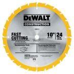 DEWALT Construction 10 in. 24-Teeth Thin Kerf Table Saw Blade