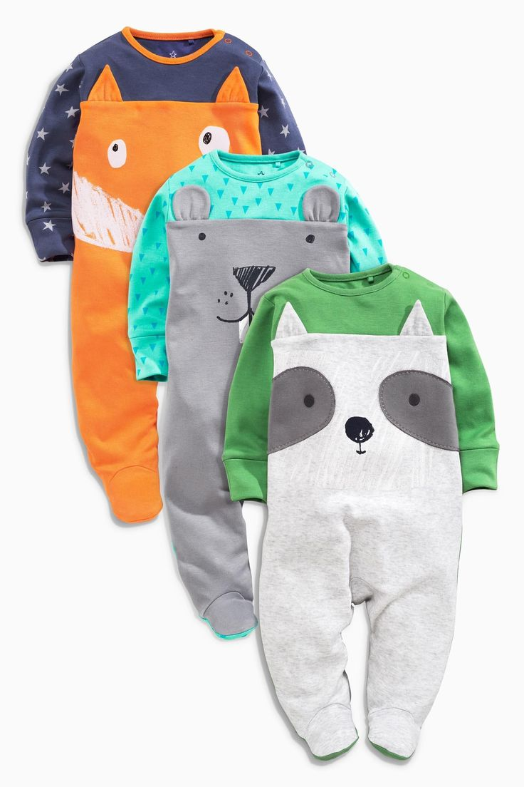 Buy Three Pack Woodlands Sleepsuits (0-2yrs) from the Next UK online shop