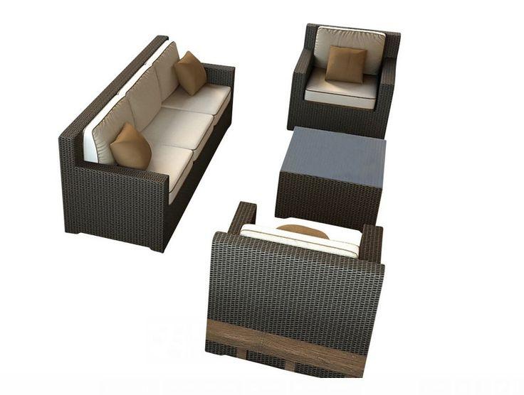 2017 Top Sale California style outdoor pvc rattan furniture