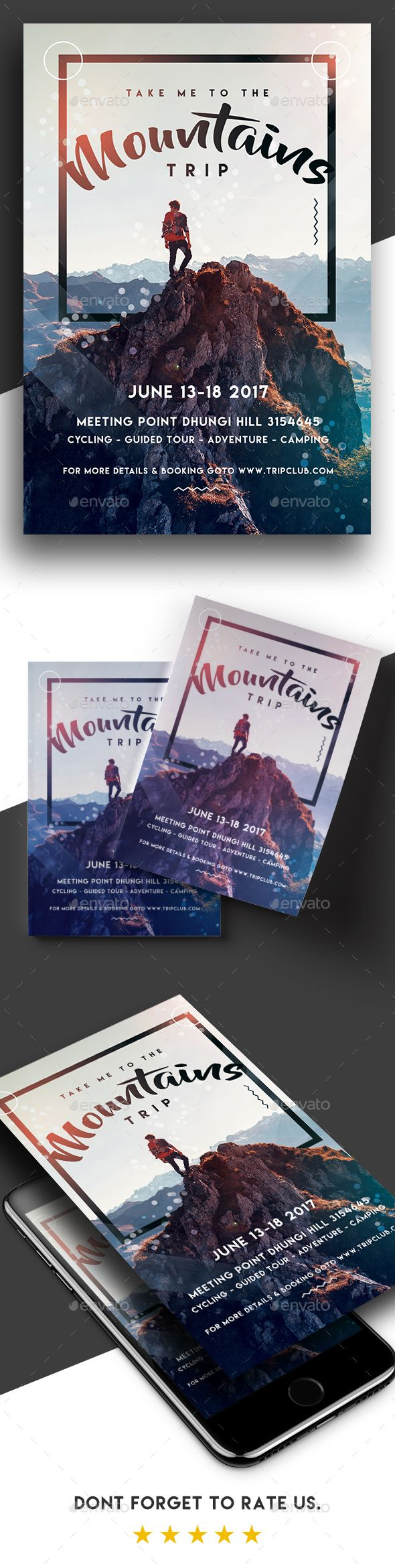 Take Me To The Mountains - Trip #Flyer - Holidays #Events Download here: https://graphicriver.net/item/take-me-to-the-mountains-trip-flyer/19715018?ref=alena994
