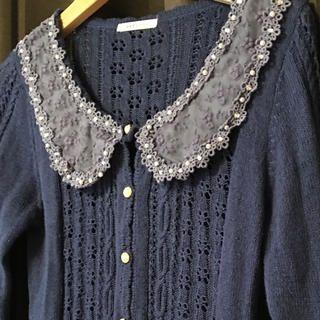 axes femme(アクシーズファム)のaxes femme ブルーレースカーデ レディースのジャケット/アウター(その他)の商品写真