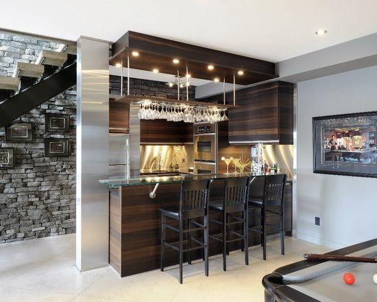 24 Stunning Ideas For Designing A Contemporary Basement. Basement Bar  DesignsHome ...