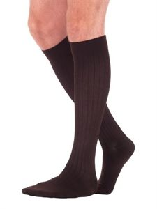 Professional Look, Comfortable Feel - Business Casual Sock Striped pattern for business wear.  Soft, microfiber inlay yarns.  Wide, non-binding top band.  Easy donning and accurate fit Stretchable toe fabric and heel design combine to create comfort and durability.