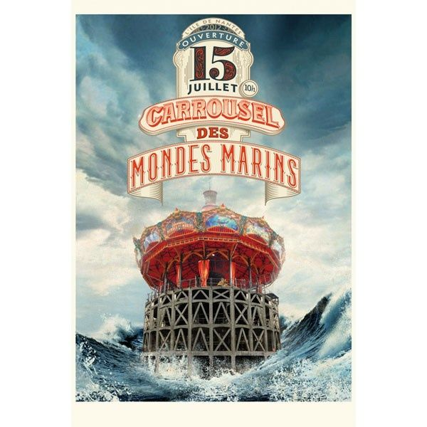 """NANTES """"Les Machines de l'Île"""" - Affiche Carrousel des Mondes Marins – Été 2012 [FRANCE]"""