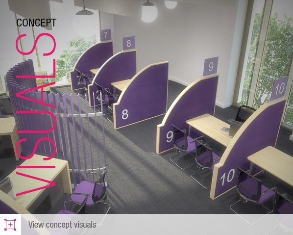 Library design visual concepts - a range of the fantastic 3D project visuals done for us by local company ADS Ltd