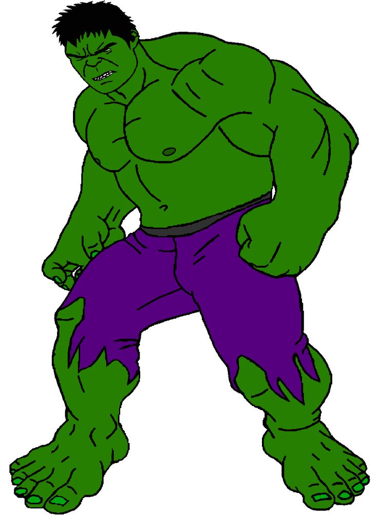This is a graphic of Old Fashioned Incredible Hulk Clipart