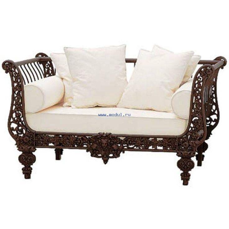 Уникальный кованый диван от мебельной фабрики Guadarte 5464H3005D5702 в салоне свети и мебели MODUL.