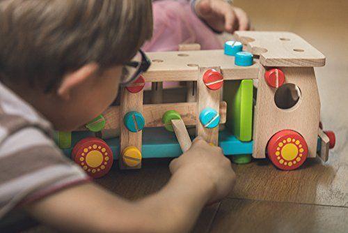 Spielzeugauto | Kalahi | Holz LKW – Lernen und Spielen mit hochwertigen Materialien. Montieren, Hämmern und Schrauben.: Amazon.de: Spielzeug