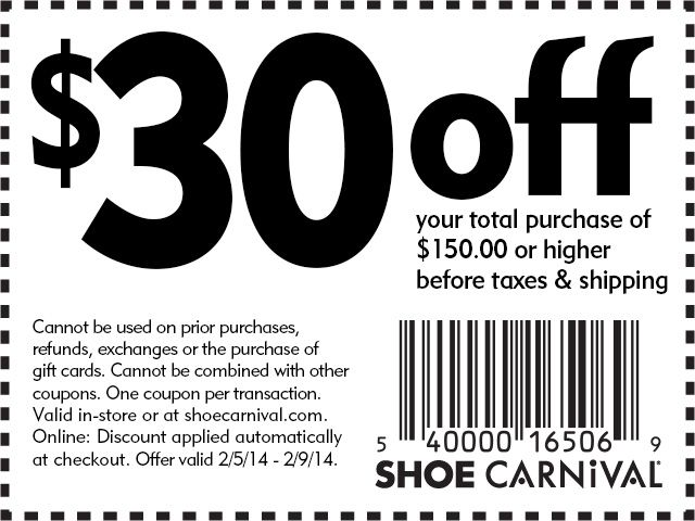 Shoe carnival coupons nov 2018